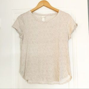 H&M Short Sleeve Polka Dotted Tee
